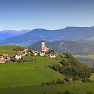 South Tyrolean Panorama above Bolzano. by Colin Metcalf