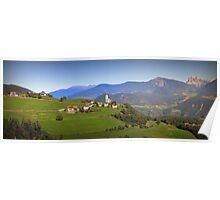 South Tyrolean Panorama above Bolzano. Poster
