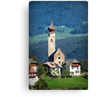 South Tyrolean Church Canvas Print