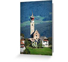 South Tyrolean Church Greeting Card