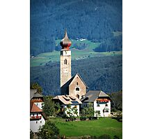 South Tyrolean Church Photographic Print