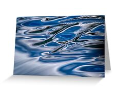 A river flows Greeting Card
