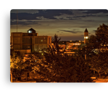 Dawn over Sioux Falls in HDR Canvas Print