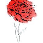 Red Carnation by Aleksandra Kabakova