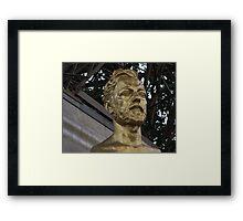 GOLDEN BUST Framed Print