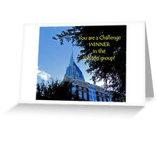 Banner - Shelters - Challenge Winner Greeting Card