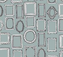 picture frames grey by Sharon Turner