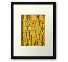 Hufflepuff (Harry Potter) Framed Print