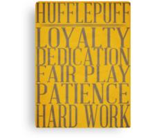 Hufflepuff (Harry Potter) Canvas Print