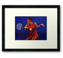 Serena Williams painting Framed Print