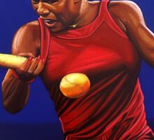 Serena Williams painting Sticker