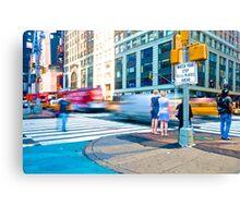 Time Square - Rush Canvas Print
