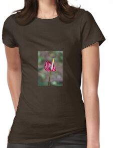 Miniature Red Anthurium Womens Fitted T-Shirt