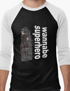 wannabe superhero 2 Men's Baseball ¾ T-Shirt