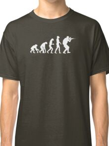 Evolution of ape to airsofter Classic T-Shirt