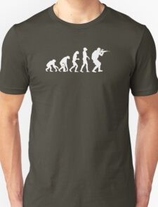 Evolution of ape to airsofter T-Shirt
