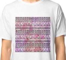 Girly Pink and Purple Painted Sparkly Watercolor Classic T-Shirt