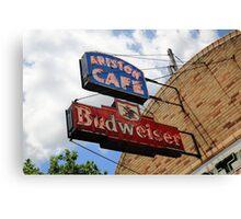 Route 66 - Ariston Cafe Neon Canvas Print