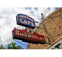 Route 66 - Ariston Cafe Neon Photographic Print