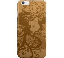 Wolf Floral in Brown iPhone Case/Skin
