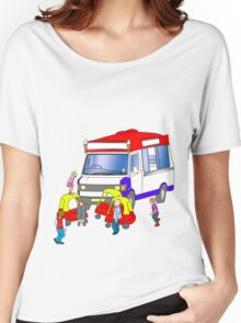 ice-cream holdup Women's Relaxed Fit T-Shirt