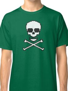 8 Bit Skull Classic T-Shirt
