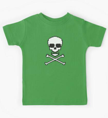 8 Bit Skull Kids Tee