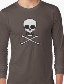 8 Bit Skull Long Sleeve T-Shirt