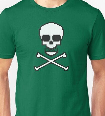 8 Bit Skull Unisex T-Shirt