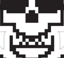 8 Bit Skull Sticker