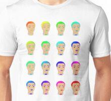rainbow heads Unisex T-Shirt