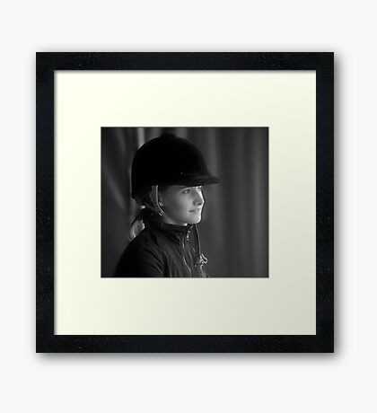 Lady Grey. by Doctor Faustus. Framed Print