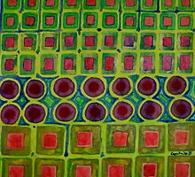 Connected filled Square Fields by Heidi Capitaine