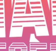 Mad Decent - Pink & white Sticker