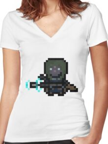 Pixel Scout Women's Fitted V-Neck T-Shirt