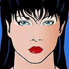 Pop Art Illustration of Beautiful Woman Amber by Frank Schuster