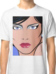 Pop Art Illustration of Beautiful Woman Bettina Classic T-Shirt
