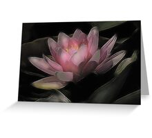 The Water Lily with butterfly wings... Greeting Card