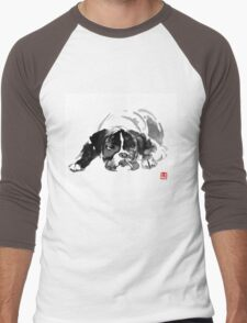 sad dog Men's Baseball ¾ T-Shirt