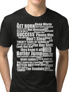 Subterranean Homesick Blues (White text) Tri-blend T-Shirt