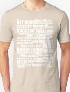 Subterranean Homesick Blues (White text) Unisex T-Shirt