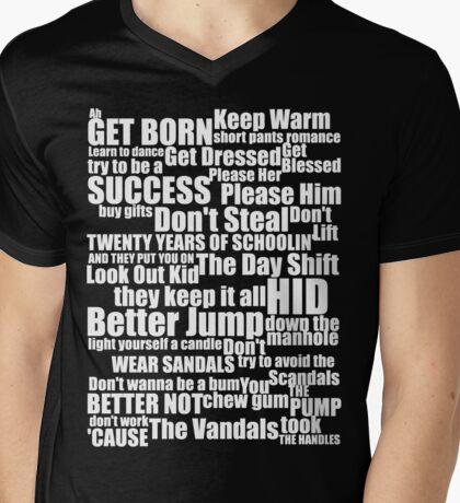 Subterranean Homesick Blues (White text) Mens V-Neck T-Shirt