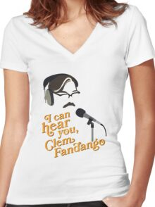 """Toast of London - """"I can hear you, Clem Fandango"""" Women's Fitted V-Neck T-Shirt"""