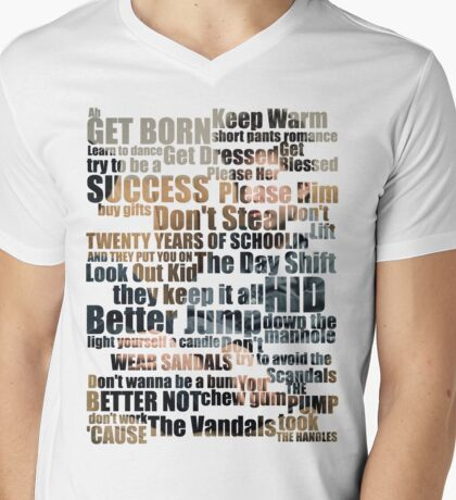 Subterranean Homesick Blues (Photo text) Mens V-Neck T-Shirt