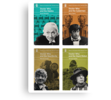 Doctor Who novels Penguin style Canvas Print