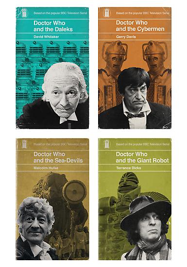Doctor Who novels Penguin style by JGarrattley