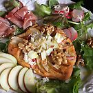 Pizza With Walnut, Apple and Salad by SmoothBreeze7