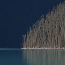 Light on the Shore of Lake Lousie by Dawne Olson