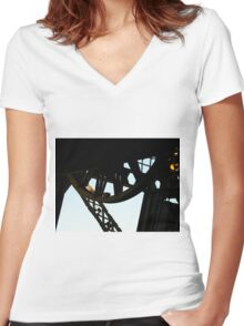 That metal weird thing... Women's Fitted V-Neck T-Shirt