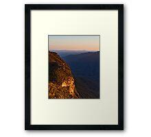 Kings Tableland Framed Print